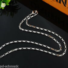 5 Herren Damen Massiv Edelstahl Venezianerkette Halskette Collier 51.5cm