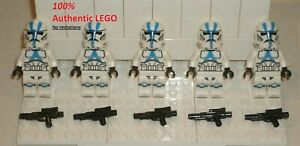 LEGO NEW Authentic Star Wars 501st Legion Clone Trooper (5x) 75280 Minifigure