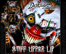 "TRAXXAS X-MAXX GRAPHICS WRAP DECALS ""STIFF UPPER LIP"" ORANGE ACCENT / BLACK"