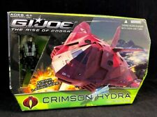 RARE 2009 GI JOE RISE OF COBRA CRIMSON HYDRA VEHICLE W/ AERO VIPER FIGURE