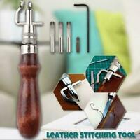 Nähwerkzeug Lederhandwerk Nähen Punch Groover Set Lederhobel Kit Werkzeug T9O4