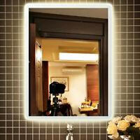 600x800mm LED Illuminated Touch Bathroom Mirror Wall Waterproof Demister Sensor