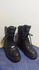 Harley Davidson Womens Black Leather Ankle Biker Boots in Size 6 1/2