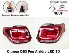 Citroen DS3 Feu arrière LED 3D Côté droit et gauche x 2 Neuf 9800543280