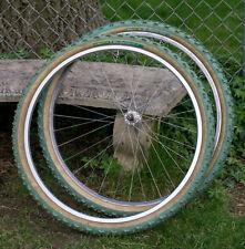 Michelin WildGripper Lite Tires Vintage MTB Set Green Skin Mountain Bike 26 1.95