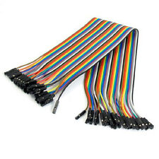40Pcs 300MM Female to Female Solderless Flexible Breadboard Jumper Cable Wire LW