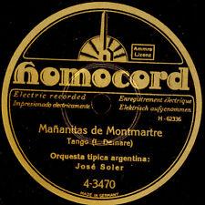 Orquesta Tipica ARGENTINA José Soler MANANITAS de montmartre/maman... s8215
