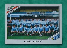 PANINI WORLD CUP MEXICO 1986 # 311 URUGUAY - TEAM