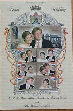 GUYANA 2002 Dutch Royal Wedding M/Sheet U/M NB608