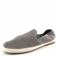 Toms Mens Classic Gray Suede Perforated Slip On Flat Shoes Mens Size 12 M