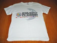 NEW WORLD SERIES BASEBALL CLASSIC WHITE T-SHIRT BOYS S 8/10 MAJESTIC  MLB 2009