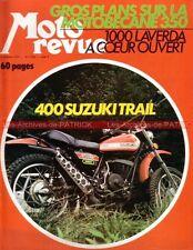 MOTO REVUE 2093 LAVERDA 1000 SUZUKI 400 Trail MOTOBECANE 350 1972