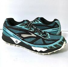 BROOKS Cascadia 4 Women's Athletic Running Hiking Trail Shoes Teal Black Sz 9.5