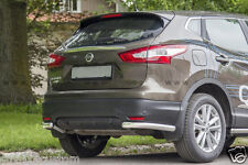 PROTECTIONS ARRIERES X2, NISSAN QASHQAI 2014-  INOX DIA 60mn, GARANTIE 6ans