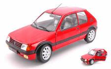 Peugeot 205 gti 1.9 phase 1 red 1:18 auto stradali scala solido