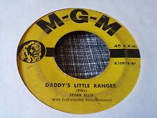 Seger Ellis 45 The Old Time Fiddler/Daddy's Little Ranger MGM 10918