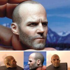 "1/6 Scale Jason Statham Head Sculpt Model For 12"" Hot Toys Male Figure Body"