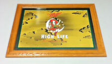 Miller beer sign mirror High Life girl on the moon 1991 bar glass large big CJ5