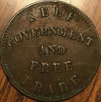 1855 PEI SELF GOVERNMENT AND FREE TRADE HALF PENNY TOKEN - Coinage die axis