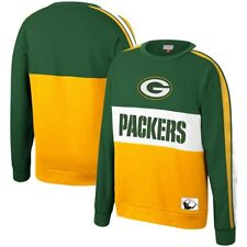 Green Bay Packers Mitchell & Ness NFL Leading Scorer Fleece Crew Sweatshirt