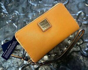 DOONEY & BOURKE~Saffiano Leather~Zip Around Phone Wristlet Wallet~MARIGOLD~NWT!