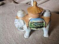 Ancien éléphant en porcelaine-serviteur poivre-sel-moutarde-made in Germany