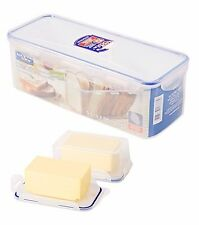 Lock & Lock NEW Plastic Rectangle Bread Box (HPO849) and Butter Keeper (HPO956)