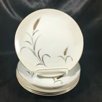 Vintage CTSI ETERNAL HARVEST Wheat Pattern Set of 5 Bread Plates