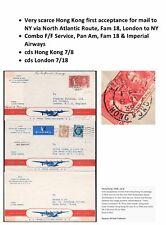 Fam 18 Hong Kong First Flight to New York via London 1939 Pan Am Clipper
