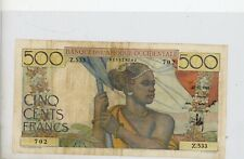 French West Africa - 1947- 500 Francs - P40 #  702