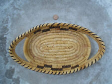 New ListingVintage Native American Papago Oval Shaped Basket Tray With Handles