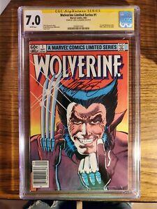"""Wolverine"" No.1 1st Solo Wolverine Cover Chris Claremont Signature 1982 CGC 7.0"