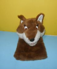 "Dakin Applause Hand Puppet Fox Soft Stuffed Plush 14"" Brown White Open Mouth"