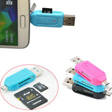 Fashion Charm Mini Size USB 2.0 Micro SD T-Flash Card Reader  Adapter High Speed