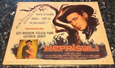 REPRISAL! 1ST issue LOBBY CARDs, 1956, FINE, GUY MADISON, Felicia Farr,Lynching