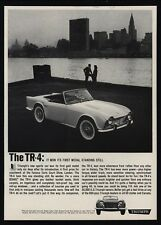 1962 TRIUMPH TR-4 Convertible Sports Car - NYC Empire State Building VINTAGE AD