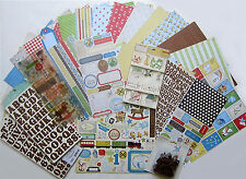 Crate Paper [Little Boy Blue] Vintage Baby Paper & Embellishment Set E  $60 msrp