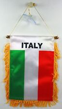 ITALY flag automobile rearview mirror or window flag car Home Italy pride