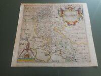 100% ORIGINAL BUCKINGHAMSHIRE MAP BY SAXTON KIP C1610 SCARCE HAND COLOURED