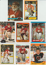 Huge 45 +  Different MIKE VERNON cards lot 1990 - 2001 Flames Sharks Red Wings