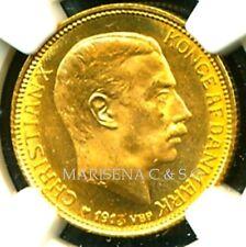 DENMARK 1913 VBP AH GOLD COIN 20 KRONER * NGC CERTIFIED GENUINE MS 64 *EXQUISITE