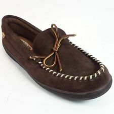 LB Evans Loafer Slippers Camp Shoes Men's Mens 13 Moccasin Suede Leather Brown