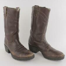 Vintage Georgia Women Brown Leather Faux Fur Lined Western Boots Size 7D