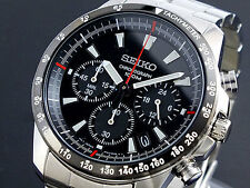 SEIKO SSB031P1 Tachymeter Chronograph Black Dial Men's Watch From Japan