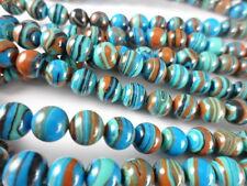 Blue Rainbow Calsilica 6mm Round Bead Strand Semi-Precious 1 str