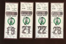 1977-78 NBA Basketball Boston Celtics Full Tickets 4 Different