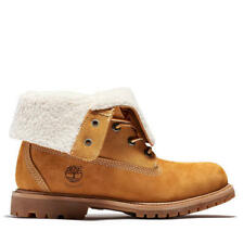 Timberland Teddy Fleece Womens Fold Down Waterproof Ankle Boots Wheat Size 4-8