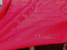 Red Satin CHAMPAGNE Fabric Party Loungewear Home Decorating Faux 4.6 YDS