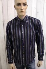 MARLBORO CLASSICS Camicia Uomo Taglia M Cotone Shirt Casual Manica Lunga