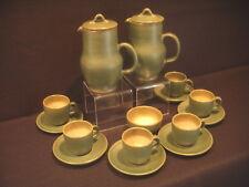 RETRO 1960'S STUDIO SUNFIELD POTTERY GREEN COFFEE SET ROSEMARY DUGDALE-BRADLEY